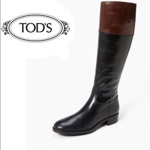 Tod's Two Tone Riding boots size 10